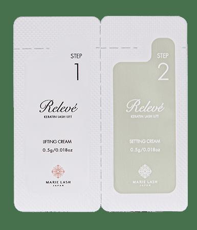 Relevé角蛋白紧肤霜1和2(3个样板)