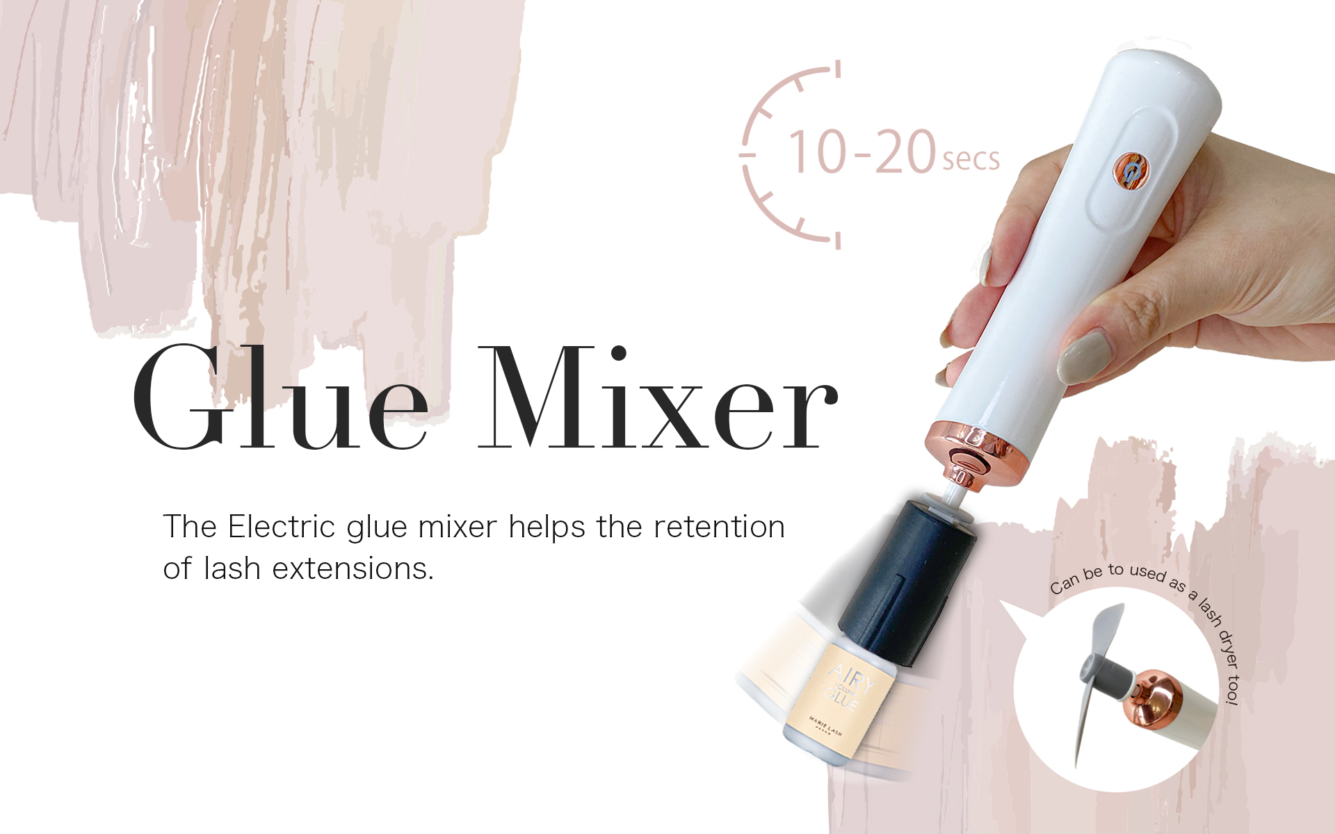 MARIE LASH JAPAN new eyelash extensions glue mixer